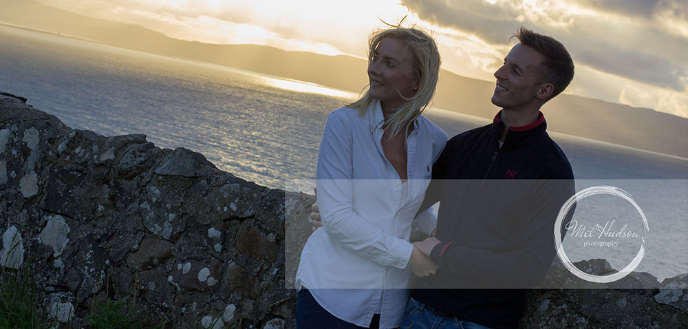 Mel Hudson Family Photography Belfast, engagement shoot at sunset 2