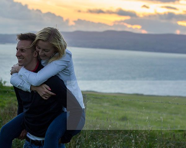 Family Photography Belfast, Engagement Shoot on the North Coast Sunset