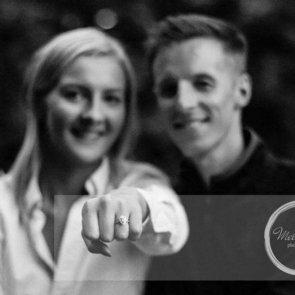 Family Photography Belfast, Engagement Shoot showing the stunning ring
