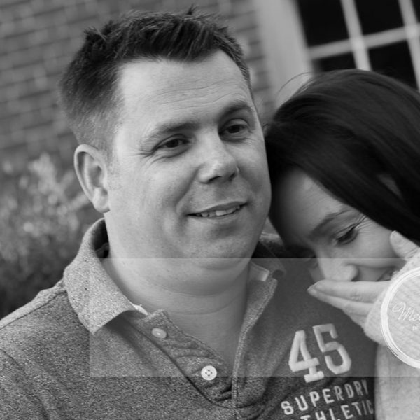 Mel Hudson Family Photography Belfast, Black & White portrait of a couple sharing a moment