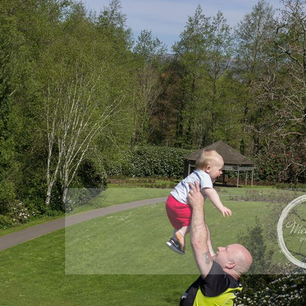 Mel Hudson Family Photography Belfast, Daddy & his son at a park in Belfast
