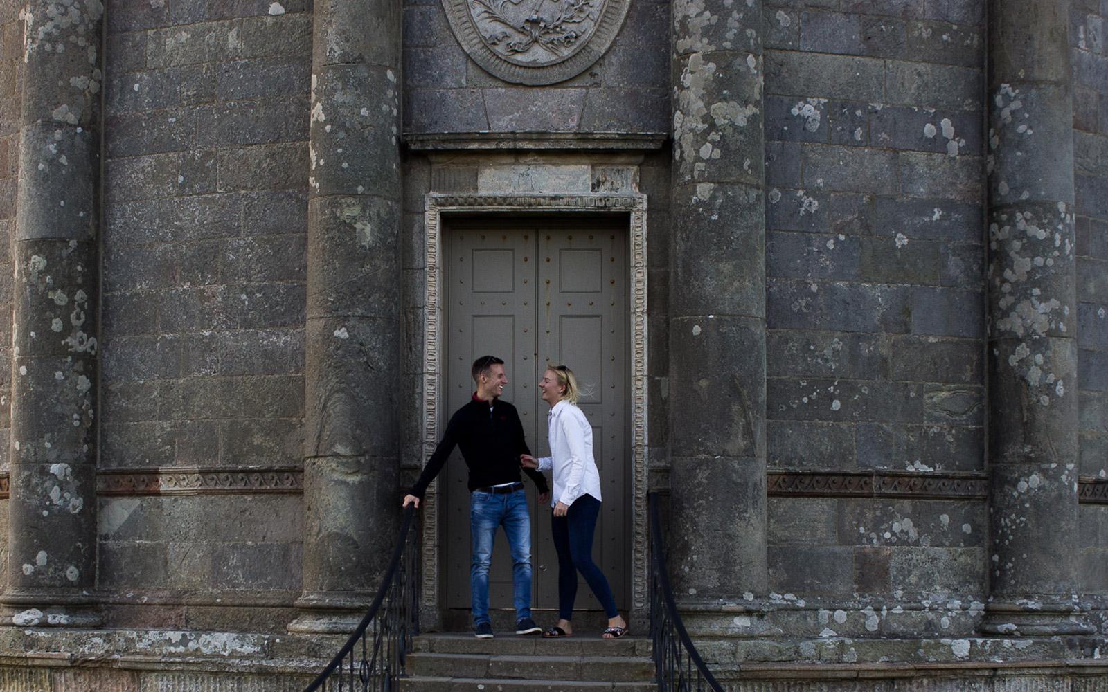 Couples Outdoor Photographer, Mel Hudson Photography Carrickfergus , Mausoleum Temple Downhill Demesne Castlerock