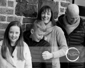 Mel Hudson Family Photography Belfast, Black & White family shot