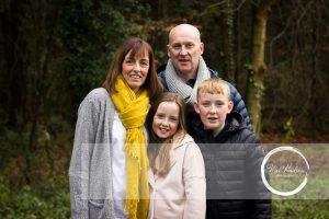 Mel Hudson Family Photographer Belfast, family lifestyle portrait mum, dad, daughter & son