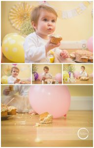 Cake Smash at home Mel Hudson Family Photography Belfast