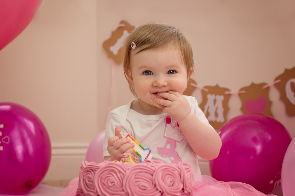 Indoor Family Photographer Belfast, little girls first birthday