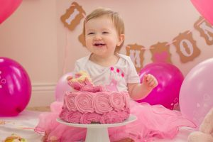 Indoor Family Photographer Belfast, at home Cake Smash