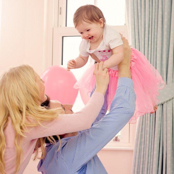 Family Indoor Cake Smash Photographer, Belfast, Little girls first birthday