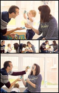 Cake Smash Photographer Belfast, mum & dad get involved