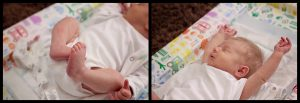 Newborn moments during an at home photo session Co Antrim