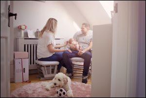 newborn photoshoot at home Belfast