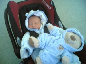 bringing a newborn home from the hospital