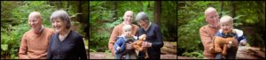 Outdoor professional family photos NI grandparents and grandson