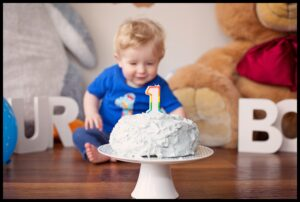 first birthday cake smash little boy Mel Hudson Photography BELFAST
