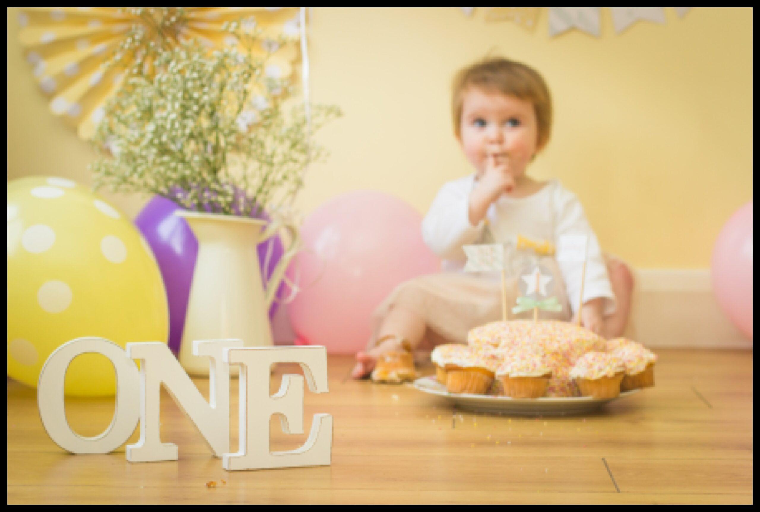 Little girls Cake Smash Belfast Mel Hudson Family Photographer