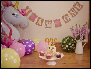 Little girls Cake Smash at home BELFAST