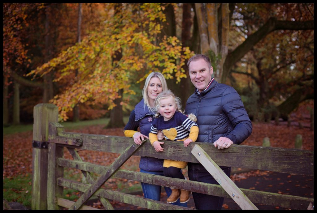 Autumn and winter outdoor family photo shoot BELFAST