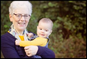 Grandmother and her grandson at Crawfordsburn photoshoot Mel Hudson Family Photography