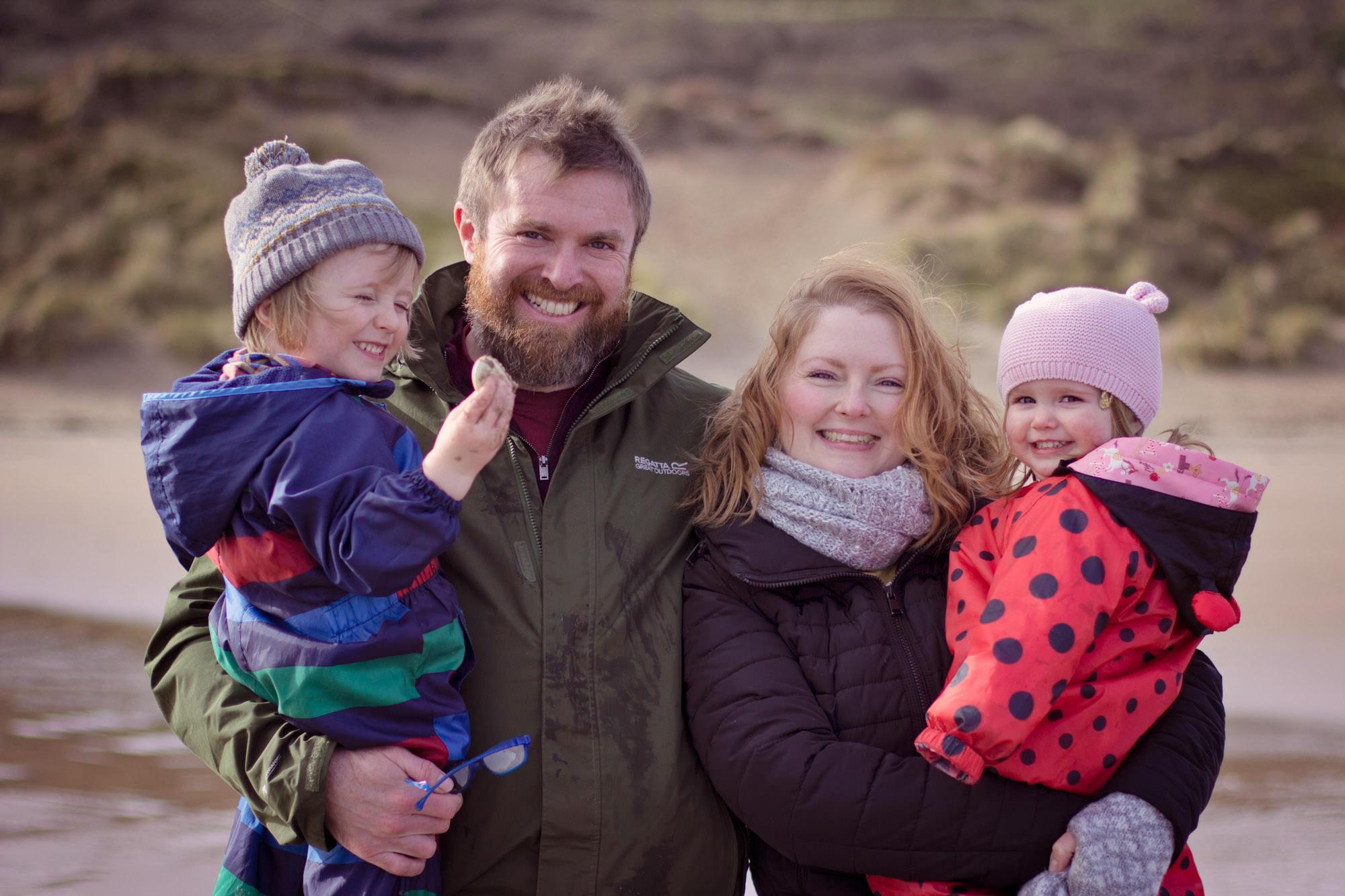 Whitepark Bay Outdoor family photo shoot