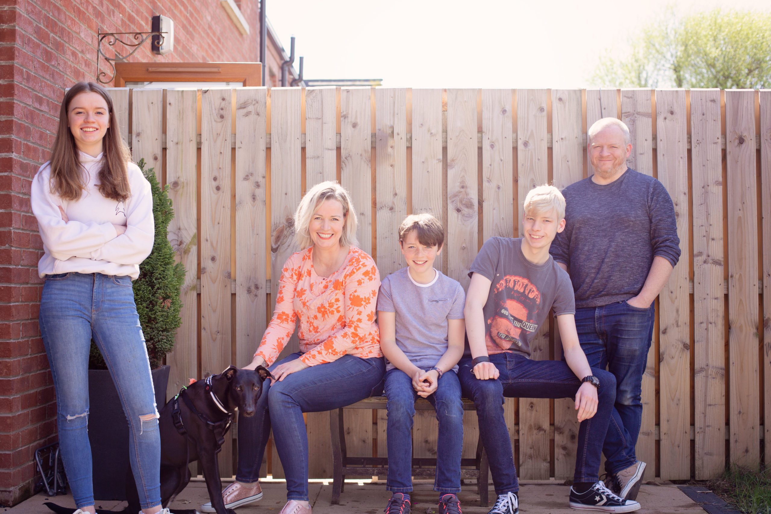at home family photoshoot front door step portrait Co Antrim