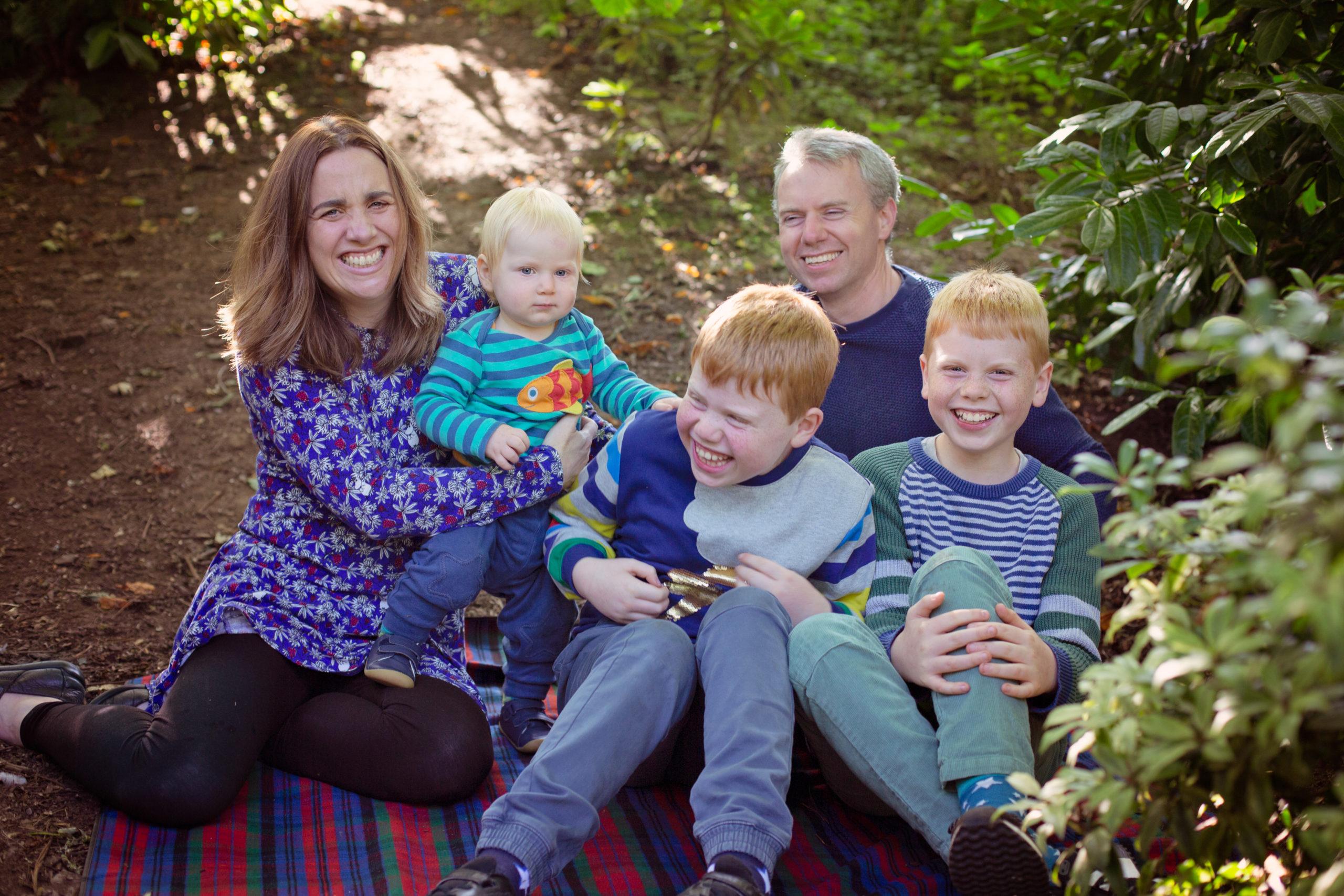 Outdoor Autumn Family Photoshoot Belfast