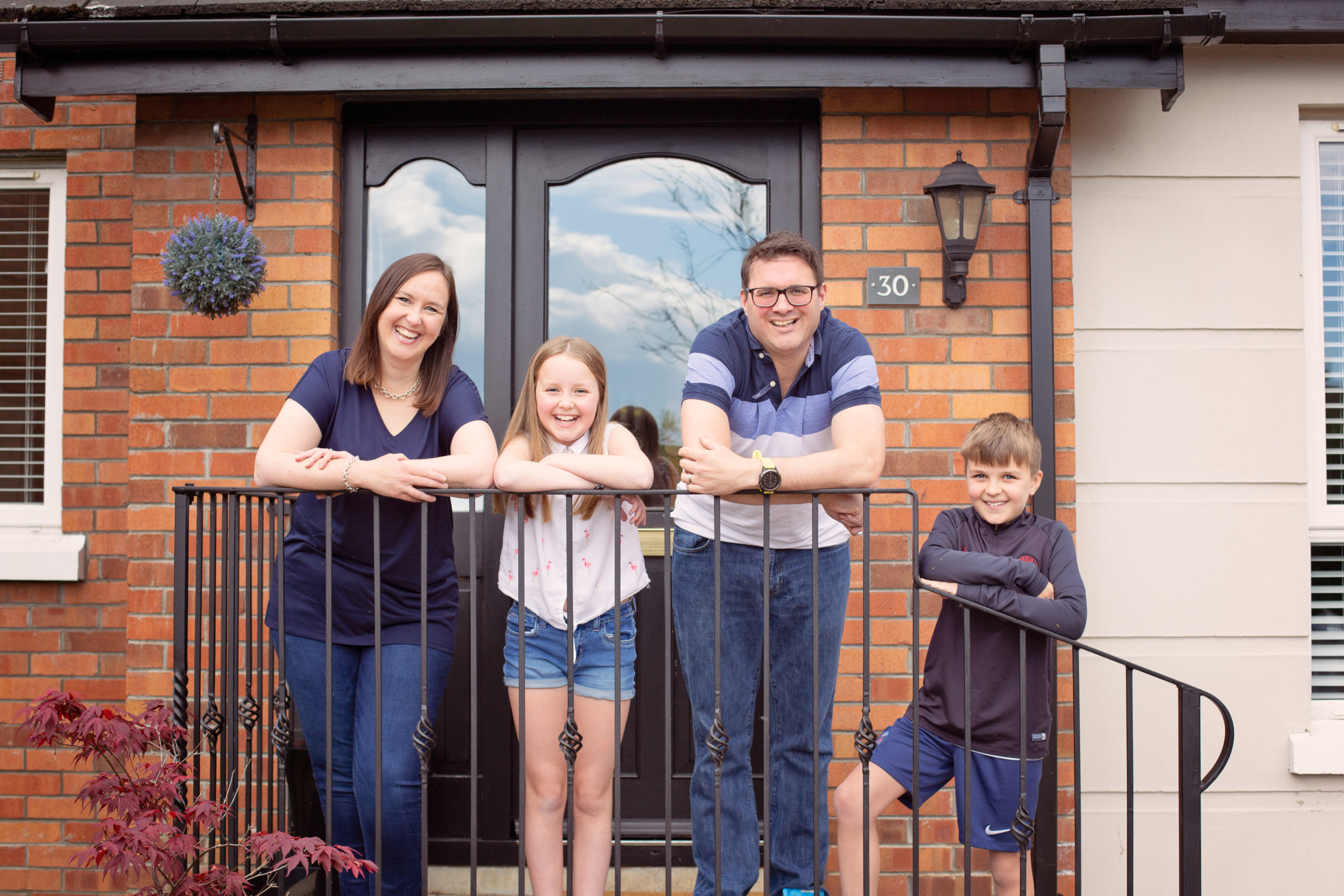 At home family photoshoot Door Step Photos Co Antrim